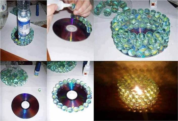 How To Diy Glass Marble Candle Holder Candle Decor Diy Glass Cheap Diy Home Decor