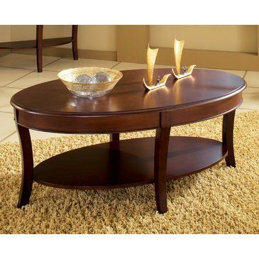 Steve Silver Troy Oval Cherry Wood Coffee Table by Steve Silver