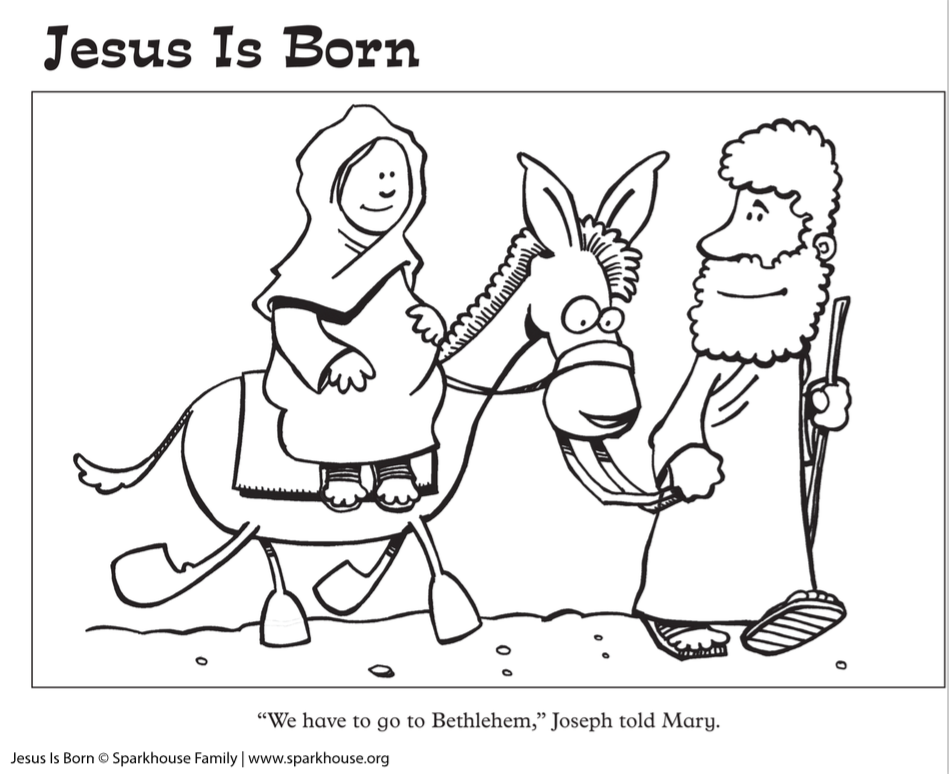 Free Nativity Coloring Pages for Kids  Sparkhouse Family Blog