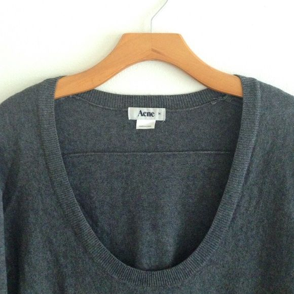 Acne Sweater dress tunic Soft and warm charcoal dress. Can be worn as a tunic with leggings. Great for layering! Acne Dresses Long Sleeve
