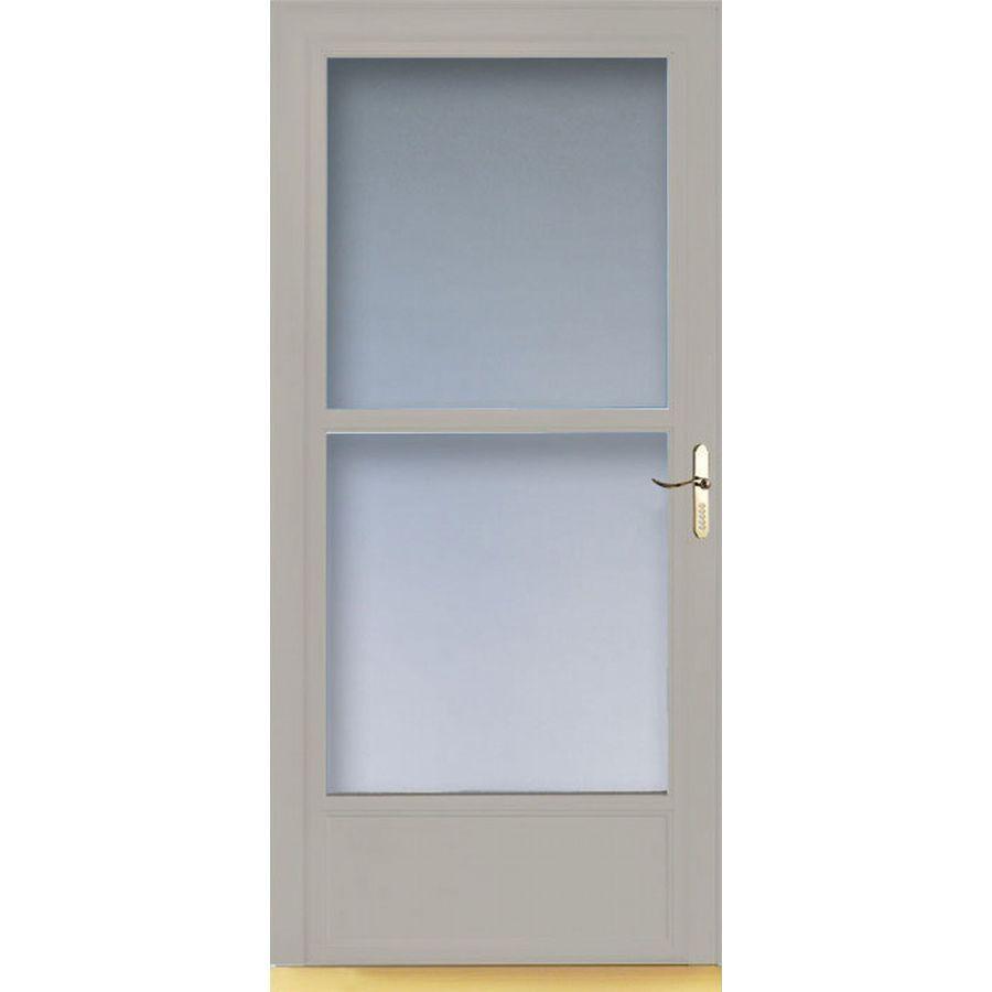 Storm Doors With Retractable Screens Shop Larson 36 In W Almond