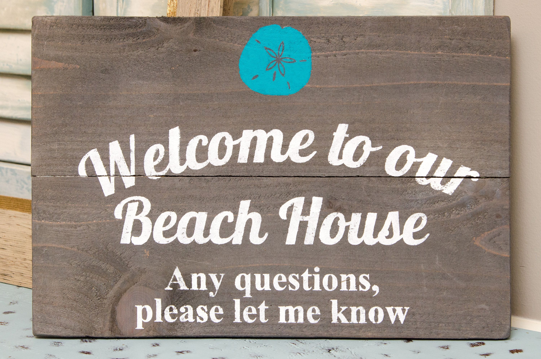 Custom Beach House Sign Beach Welcome Sign Beach House Decor Beach House Personalized Sign Beach Sign Beach House Signs Personalized Signs Cabin Signs