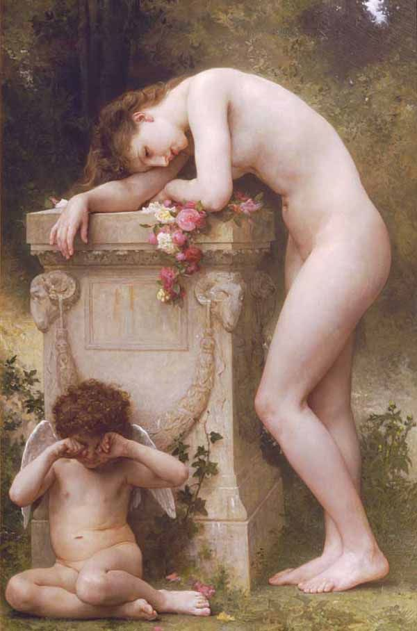 Oil body nude women lie
