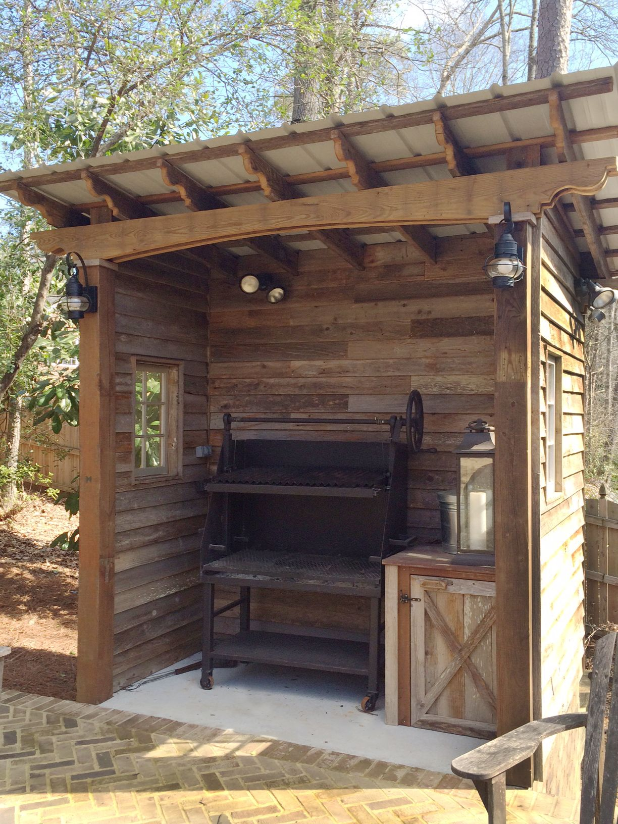 Barbecue shed designed and built by Atlanta Decking. in ...