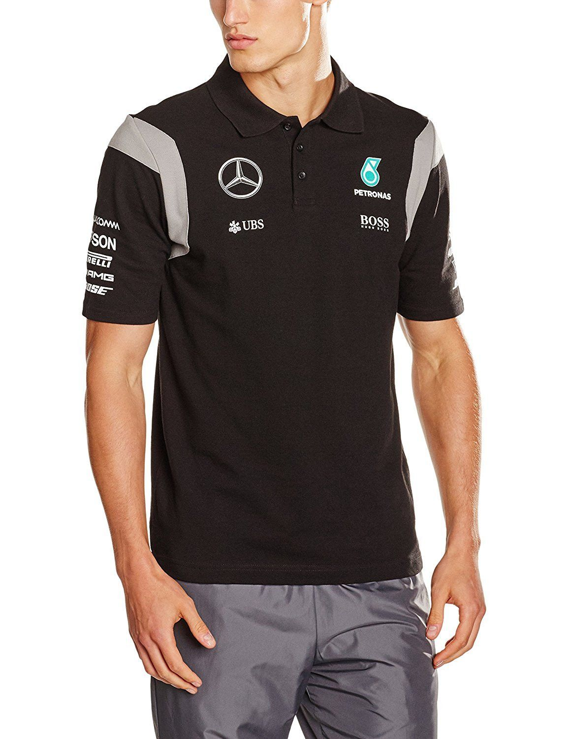 mercedes 2016 formula 1 team polo shirt with sponsers nico rosberg pinterest camisas. Black Bedroom Furniture Sets. Home Design Ideas