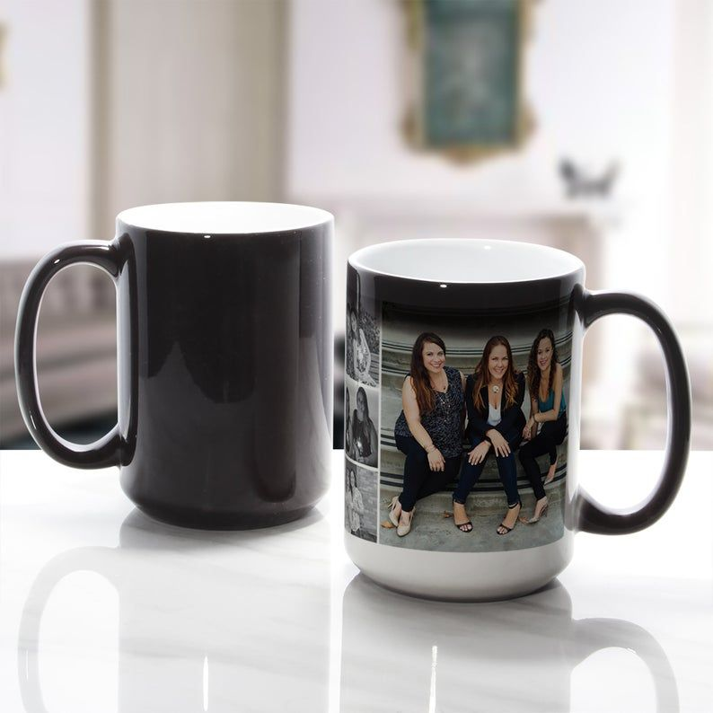 color changing coffee mug with picture