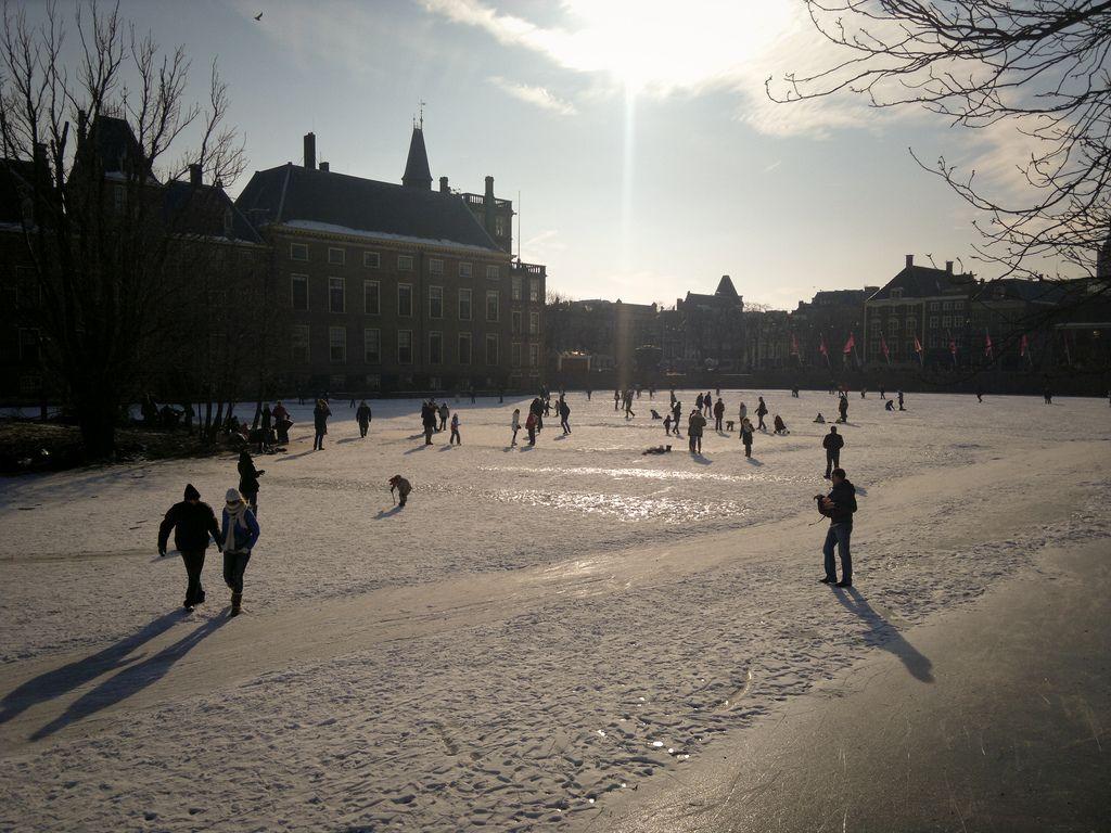 schaatsen op de Hofvijver