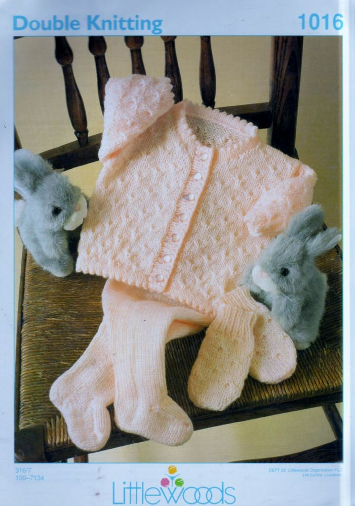 PDF Digital Download Baby Knitting Pattern Littlewoods 1016 Chest ...