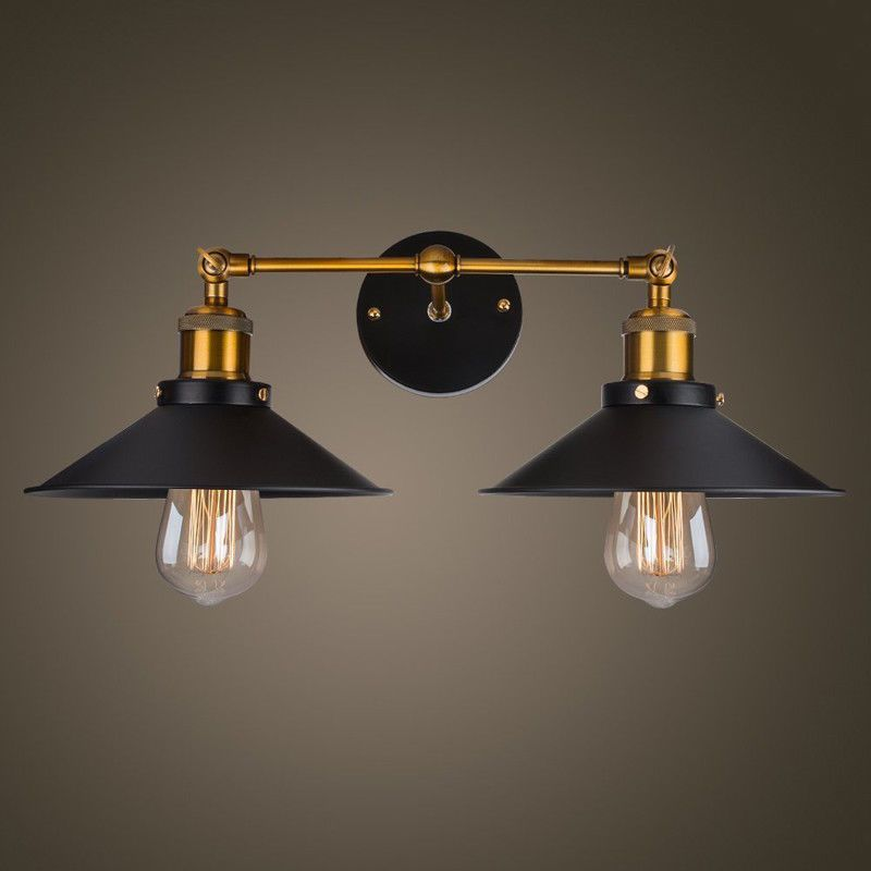 Moderno Retrò Vintage Industriale da Parete Luci Rustico Sconce Lampade Fixture