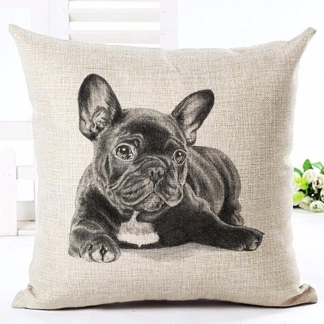 Yorkshire Cute Dog Pillow Cover Home Decor Pillow Office Cushion Sofa Pillowcase