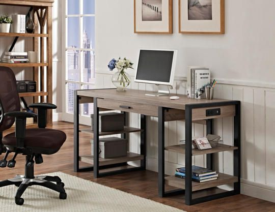 Surprising Toni 60 Usb Driftwood Desk Office In 2019 Modern Office Machost Co Dining Chair Design Ideas Machostcouk