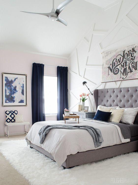 Navy blues decorando con azul marino strange thinks for Dormitorios pintados en gris