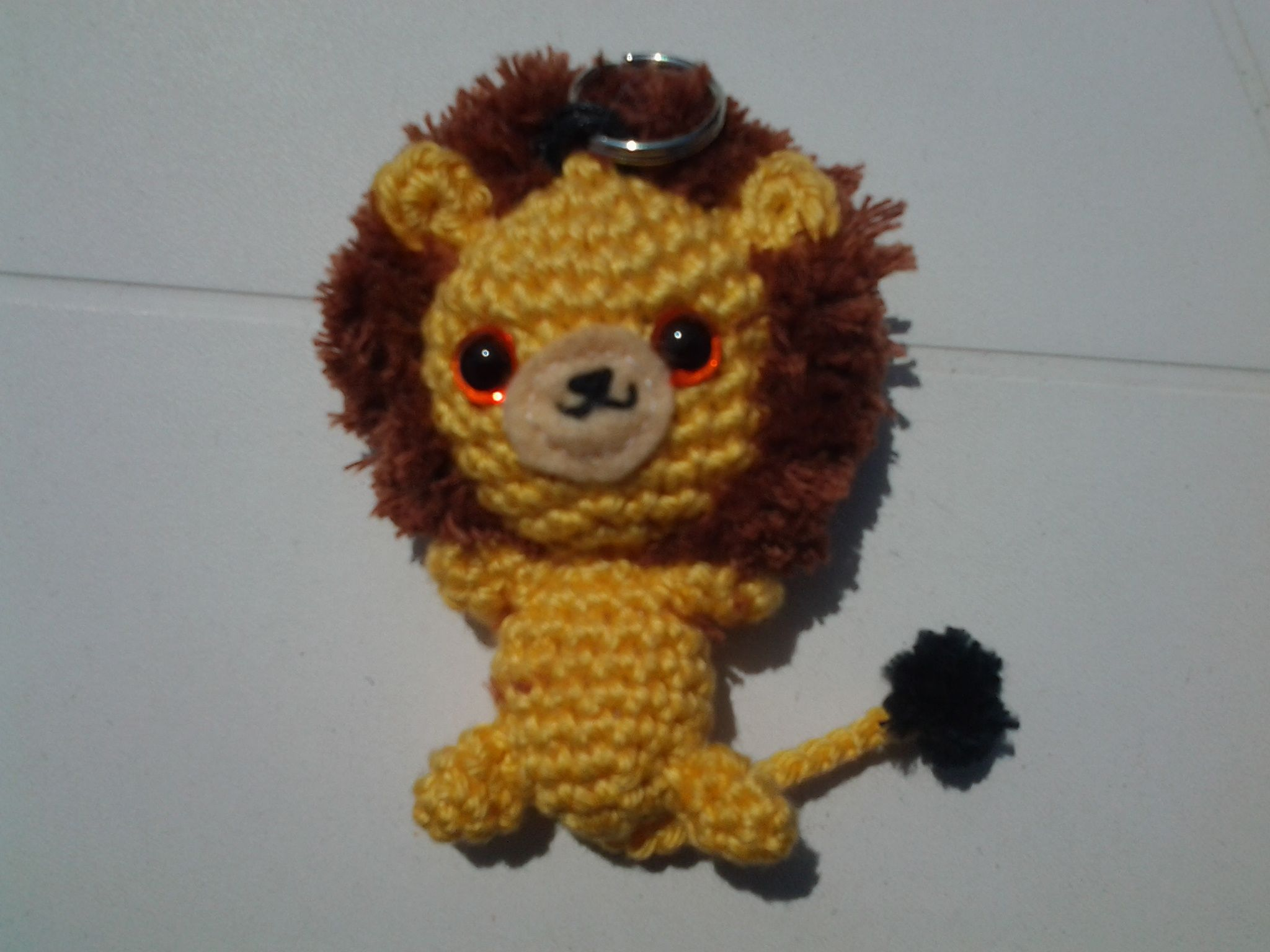 Amigurumi lion created by valerie