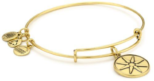 "Alex and Ani Bangle Bar ""Star of Venus"" Russian-Gold Expandable Bracelet - Alex, Bangle, bracelet, Expandable, RussianGold, Star, Venus - http://designerjewelrygalleria.com/alex-ani/alex-and-ani-bangle-bar-star-of-venus-russian-gold-expandable-bracelet/"