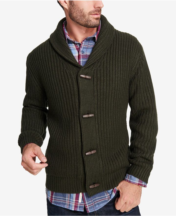 633ff87efb53ae Weatherproof Vintage Men's Shawl-Collar Cardigan | Products | Mens ...