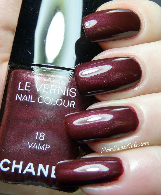 Chanel 18 Vamp | Pointless Cafe | Chanel Nail Polish | Chanel nail ...