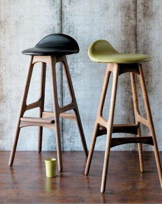 Retro Inspired Bar Stool Designed By Danish Erik Buch I Want These Stools