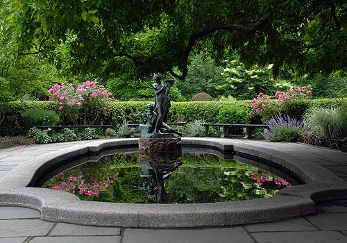 ceremony location. have guests stand around fountain in U shape. ***idea*** wishing well part of ceremony :)