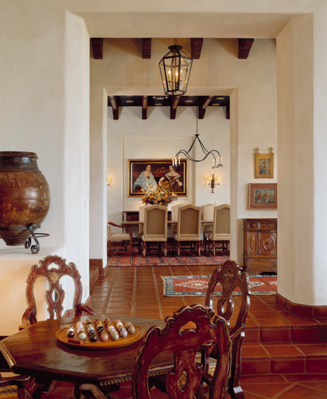 Ann james interior design style spanish colonial ranch for Spanish revival interior design
