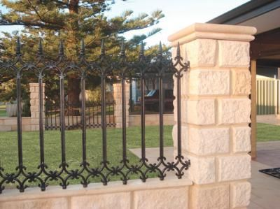 Block And Iron Fencing More Information About Wrought