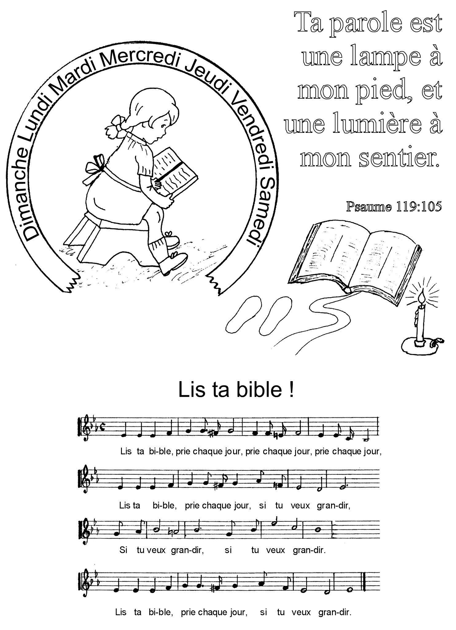 Impressionnant Image Bible A Colorier