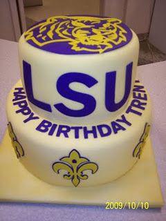 Terrific Lsu Cake Tiger Cake Graduation Cakes Funny Birthday Cards Online Necthendildamsfinfo