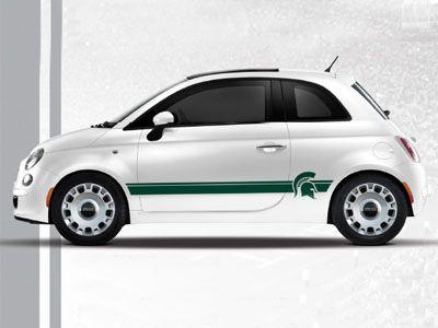 2013 Fiat 500 Abarth Ncaa Bodyside Graphic Michigan State