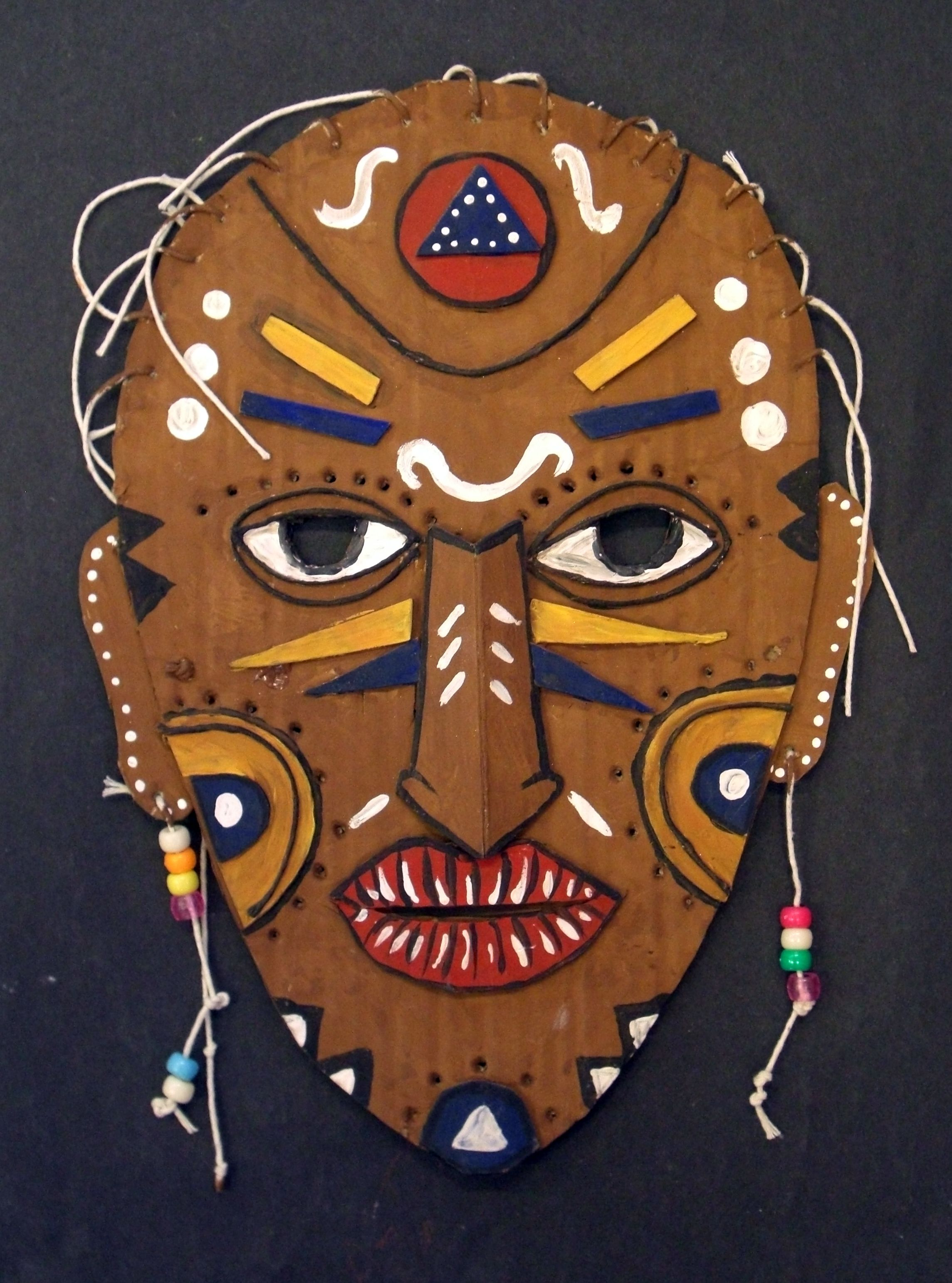 Low Relief Mask Based On African Culture Ideal Project