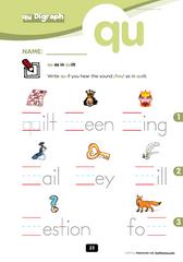 consonant digraph qu | Phonics | Phonics worksheets, Phonics, First ...