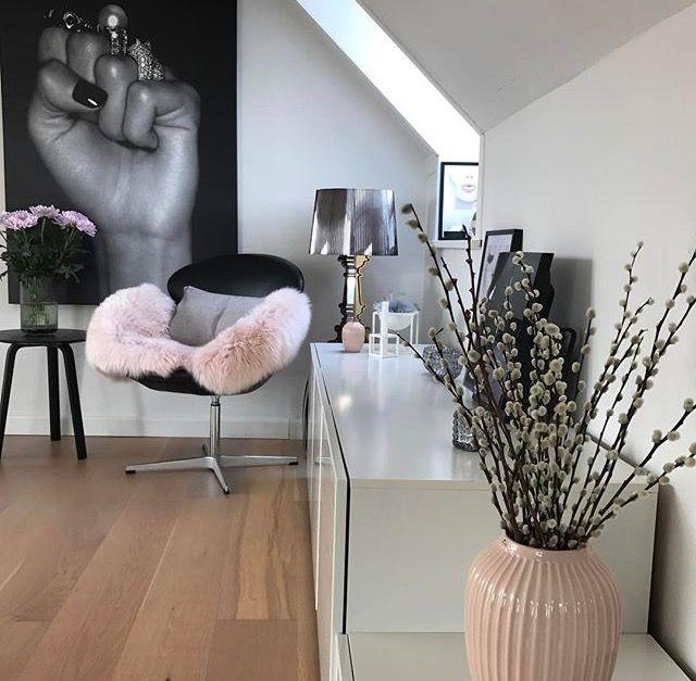 Romantisches pink trifft rockiges schwarz home pinterest wohnzimmer schlafzimmer und wohnen - Romantisches wohnzimmer ...