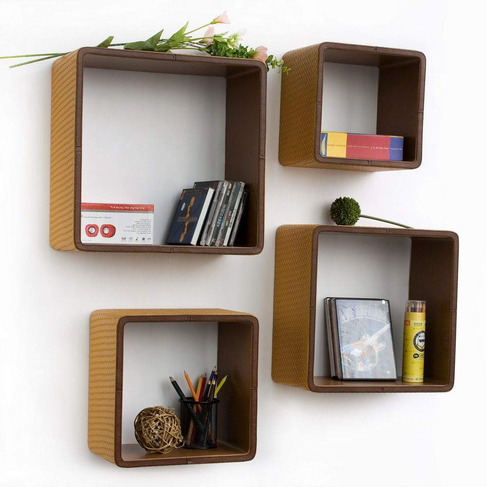 Creativity Ideas For Home Decoration Part - 34: Cool Creative Bookshelves Design Ideas Furniture Interior Wall Shelves  Square Shaped Decoration Ideas