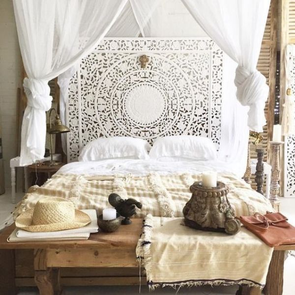 4 Poster Bed Master Bedroom Boho