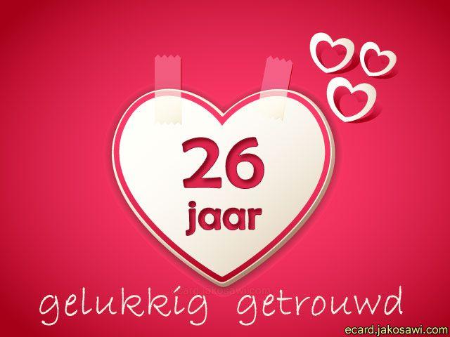 26 jaar getrouwd 26 jaar liefdehart op roze achtergrond26 jaar gelukkig  26 jaar getrouwd