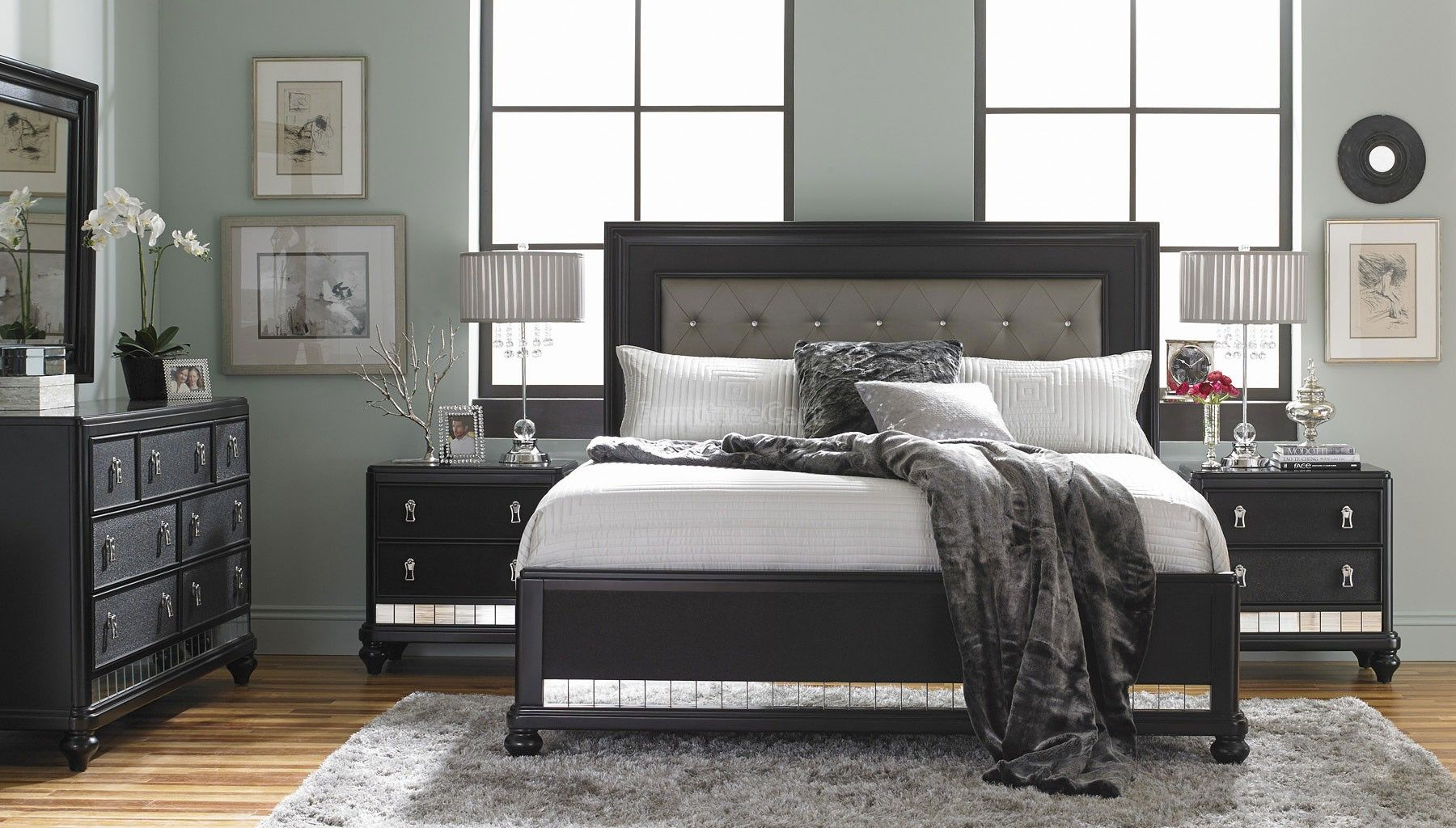 br bedroom samuel lawrence sl pepper panel set creek furniture