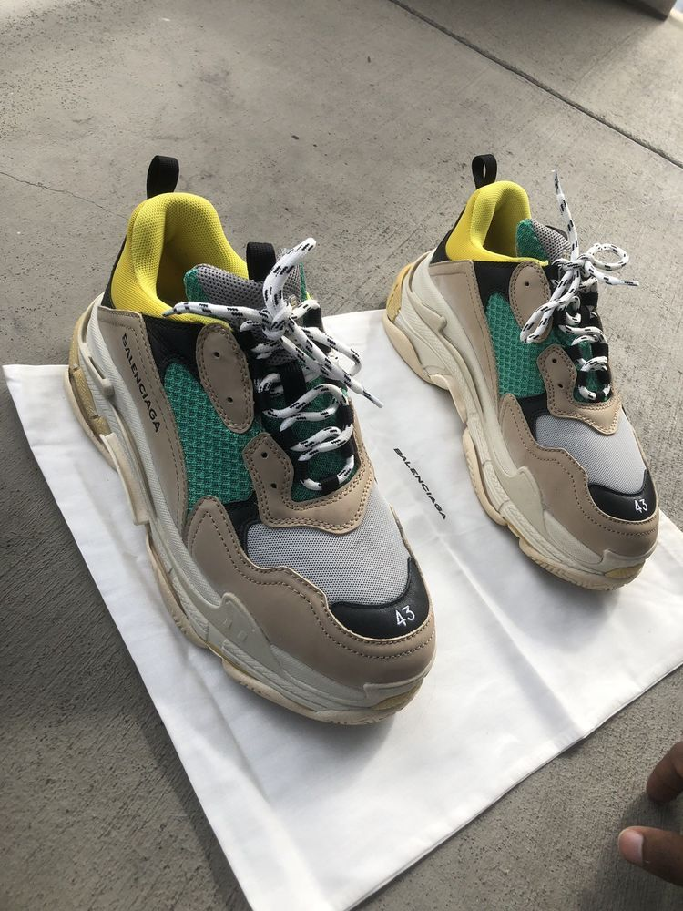 9d3eb85de927 Balenciaga mens Triple S Sneakers Size US 11 UK 10 EU 43 Beige Green Yellow   fashion  clothing  shoes  accessories  mensshoes  athleticshoes (ebay link)