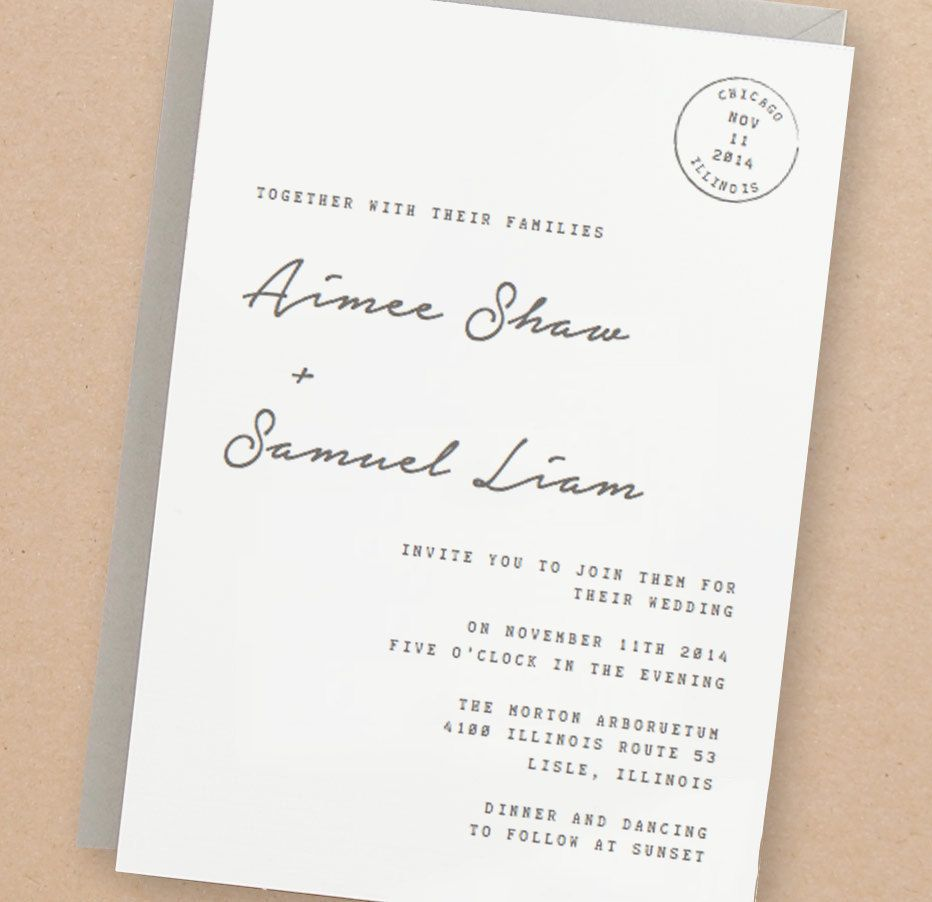 Printable Wedding Invitation Template | INSTANT DOWNLOAD | Parcel ...