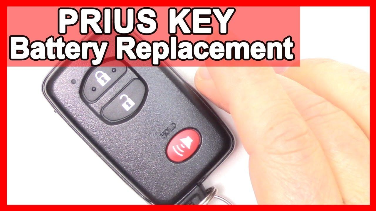 How To Prius Smart Key Battery Replacement Tutorial On 2010 2015