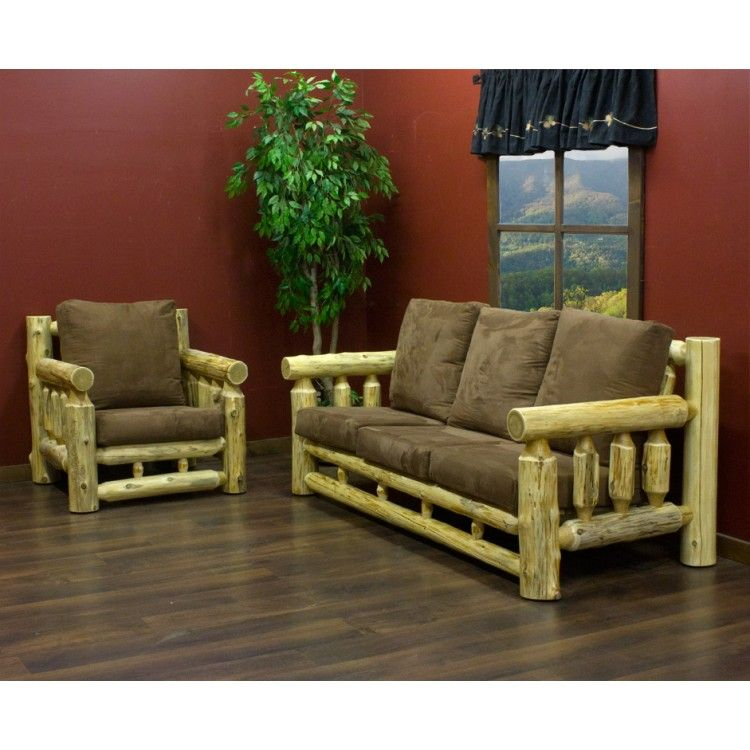 Cedar Lake Cabin Log Lounge Chair By Jhe S Furniture Place
