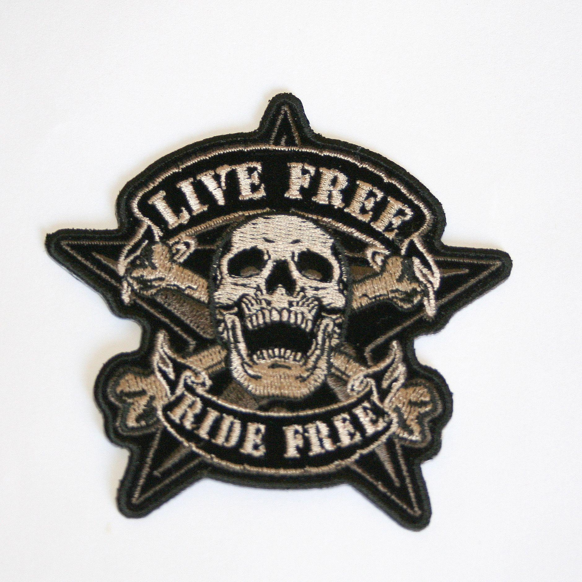 Parche motero, moto harley, productos americanos, calavera, USA, made in USA, parches bordados. Do it yourself. DIY. Customiza tus jeans. Biker patches, www.usamericanshop.com