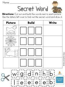 Secret Cvc Words Packet Cvc Words Words Teaching Reading