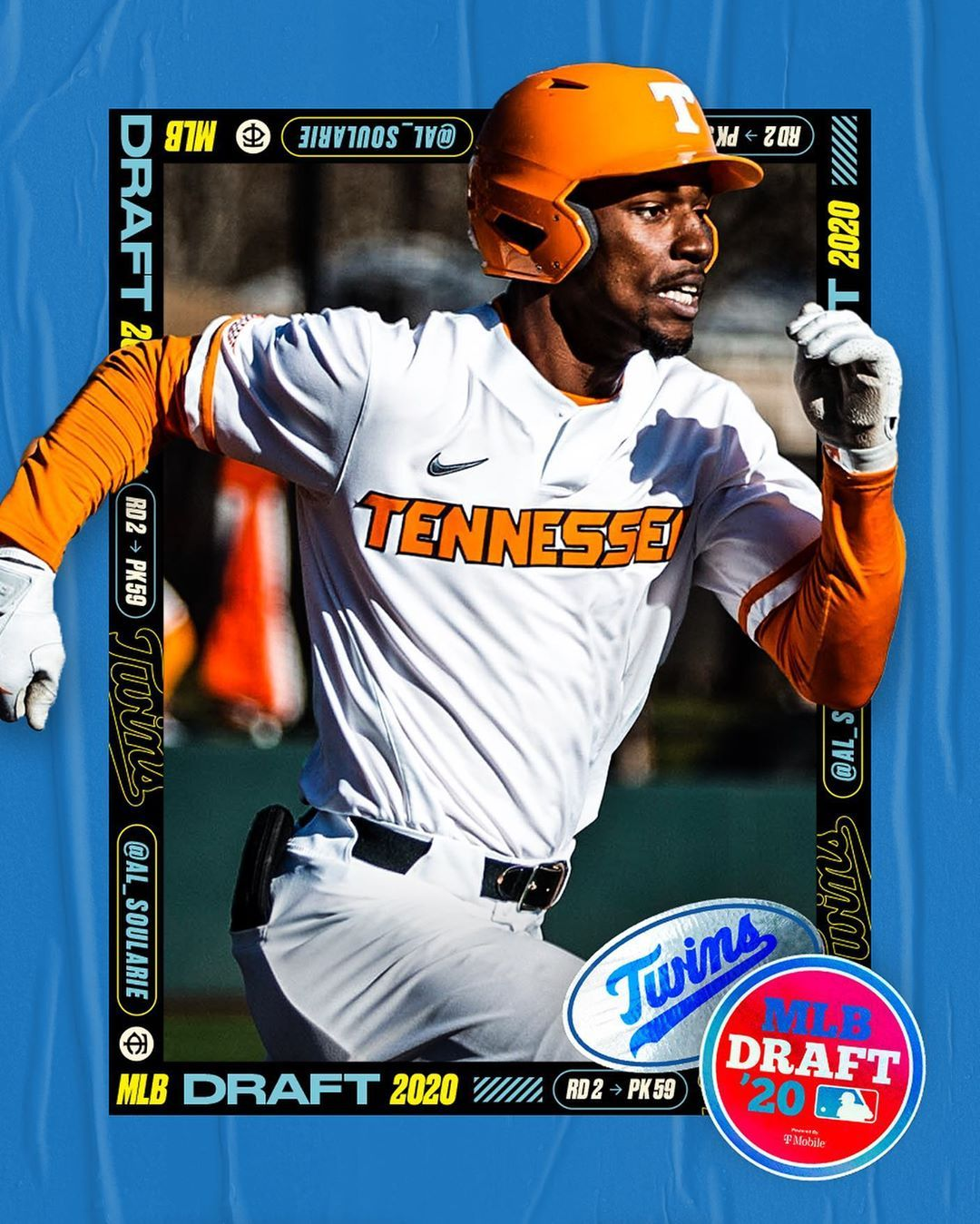 Minnesota Twins With The 59th Pick In The Mlbdraft We Selected Alerick Soularie Welcome To Th In 2020 Minnesota Twins Twins Minnesota