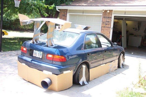 Delicieux Ways To Mock Ricers   Fabricate Ground Effects Using Cardboard