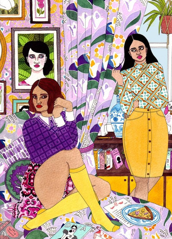 I love Irish illustrator Laura Callaghan's use of colour and bad girl obsession.
