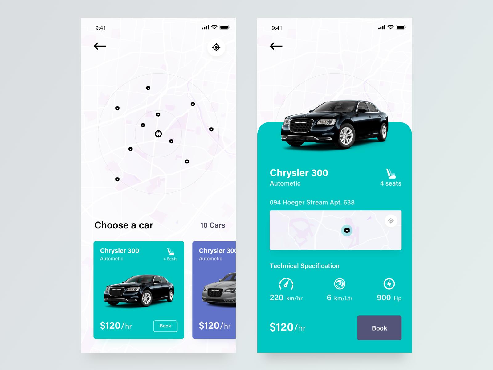 Car Rental App | app-卡片 | Car app, Car rental, Mobile app