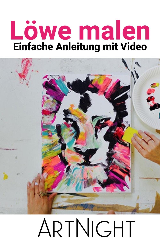 Löwe malen: Einfache Anleitung