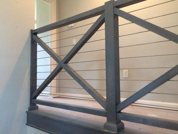 Best Farmhouse Stair Railing Google Search House Stairs 400 x 300