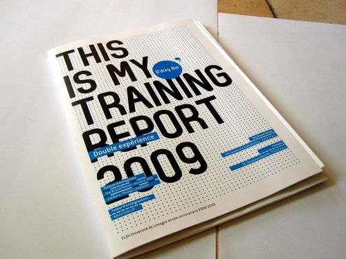 Training RepoRt On Behance  dition  Rapport De Stage