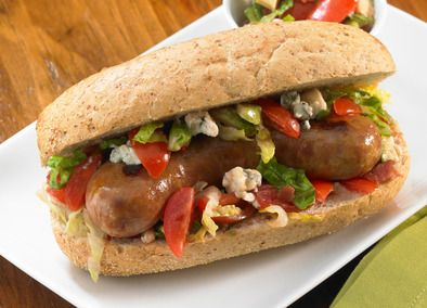 Summer Salad Relish for sausages.  the Johnsonville Three Cheese Italian Style Chicken Sausage tastes wonderful by the way.  We tried it and loved it.