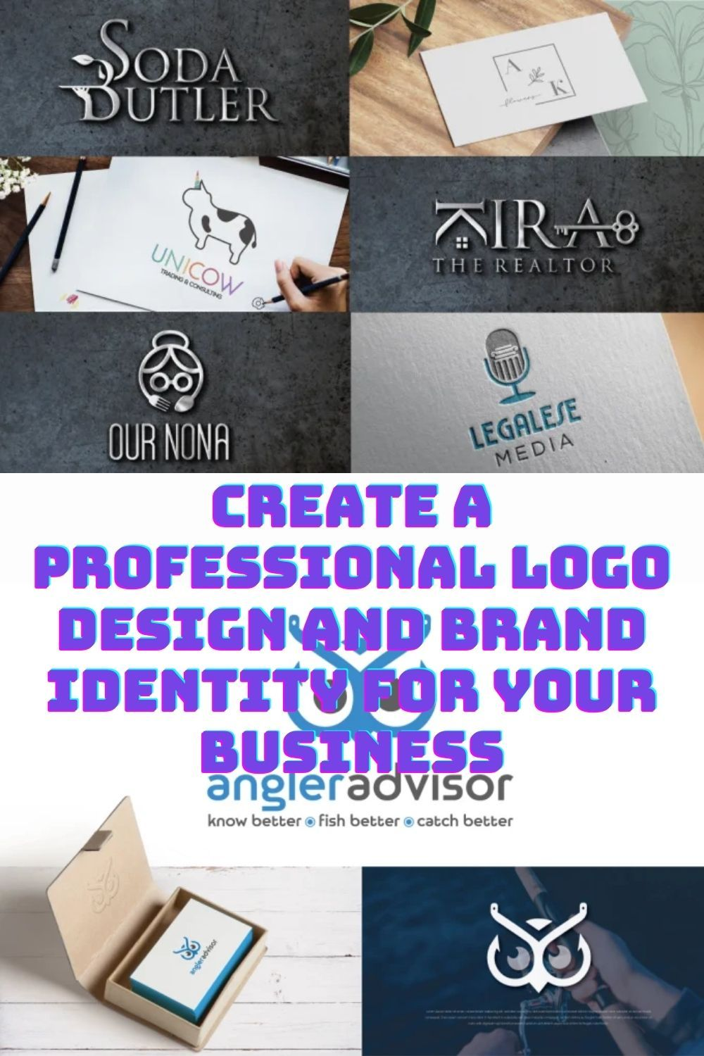 create a professional logo design and brand identity for