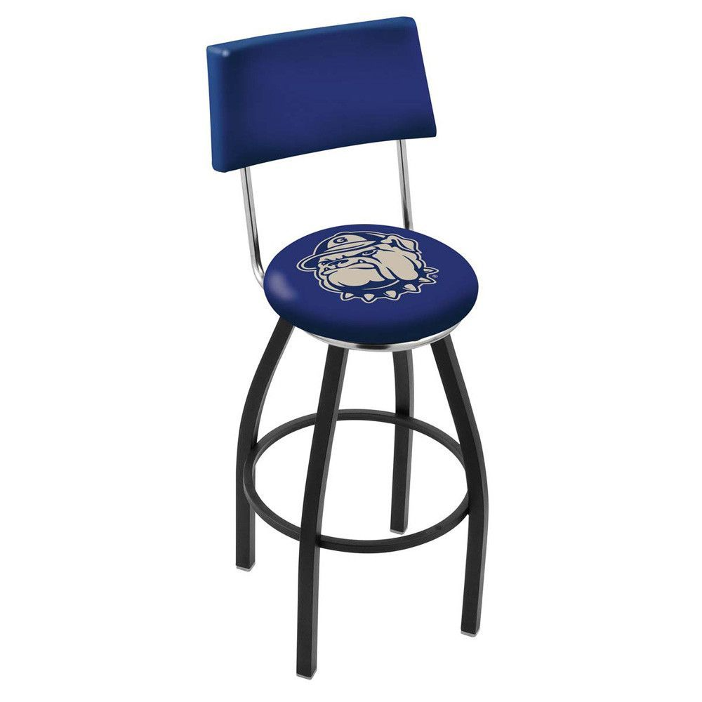 Chrome Georgetown Hoyas Swivel Bar Stool w/ Back